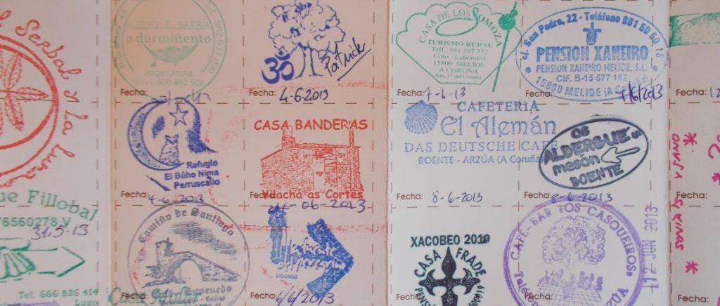 sellos credencial Camino